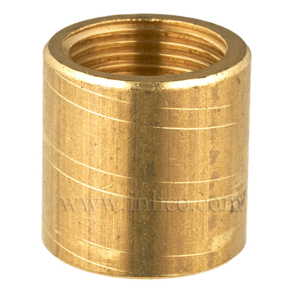 BRASS COUPLER 12MM LONG/12MM DIAMETER M10x1 INTERNAL THREAD