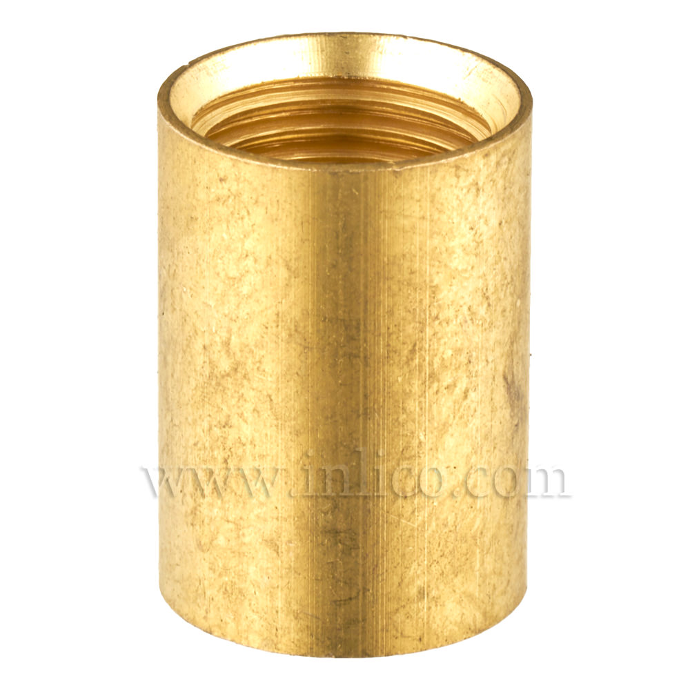BRASS COUPLER 17MM LONG/12MM DIAMETER M10x1 INTERNAL THREAD