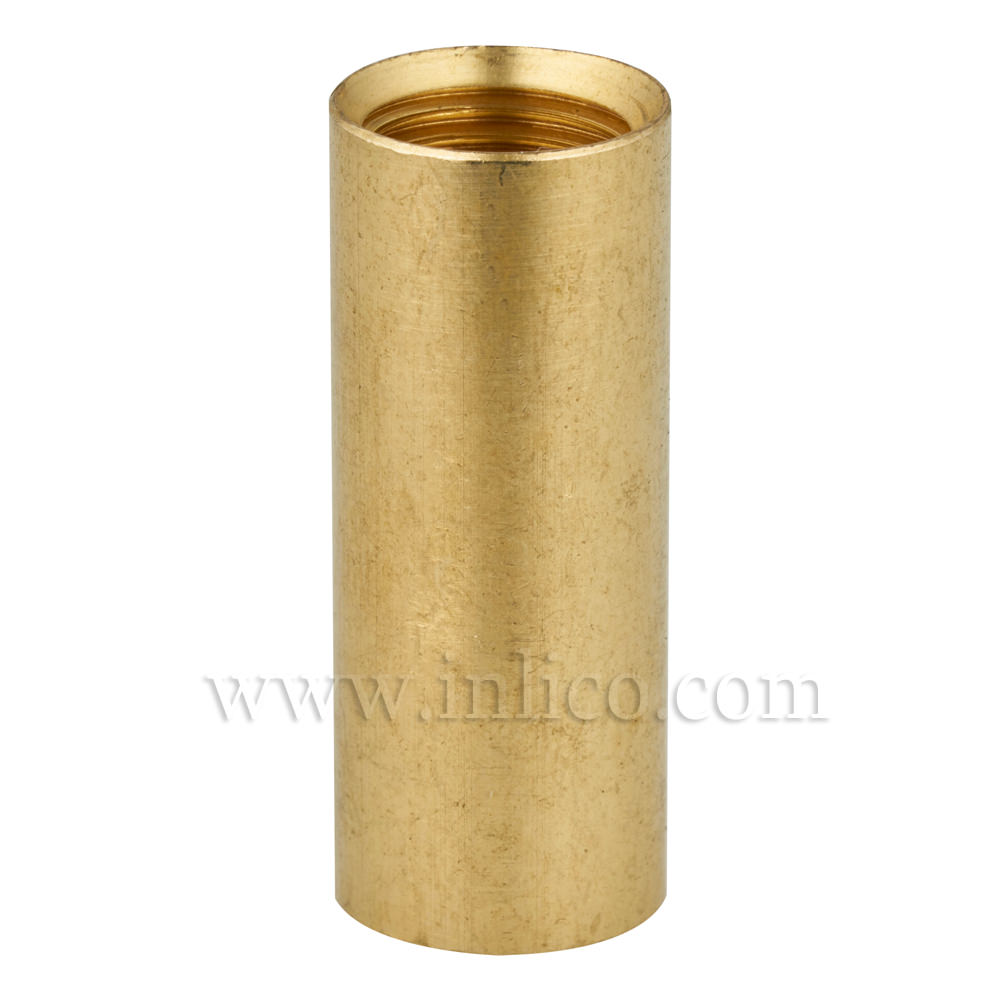 BRASS COUPLER 30MM LONG/12MM DIAMETER M10x1 INTERNAL THREAD