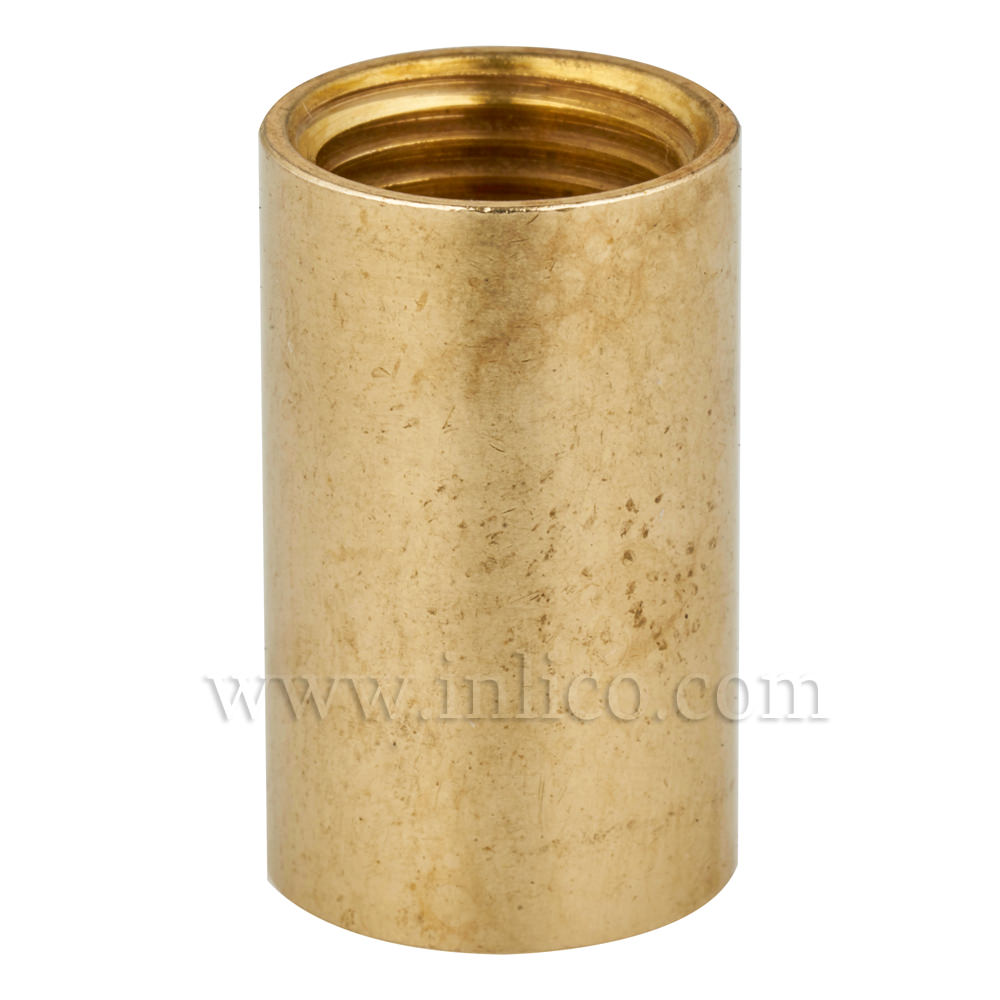 BRASS COUPLER 20MM LONG/12MM DIAMETER M10x1 INTERNAL THREAD