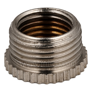 "CHROMED  REDUCER 1/2"" MALE X 10MM FEMALE (SILVERED)"
