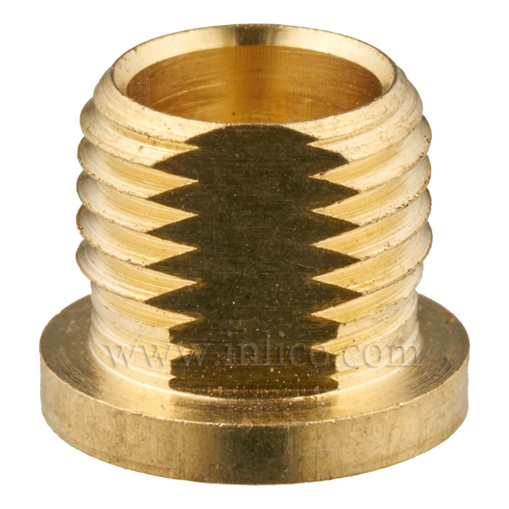 PROFILED BRASS NIPPLE WITH 10MM THREAD LENGTH OAL 13MM HEX HEAD