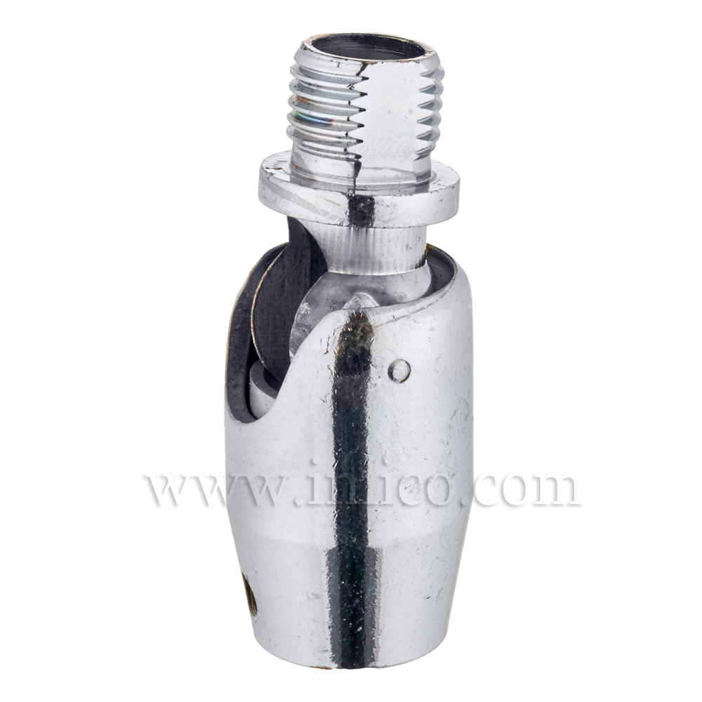 10MM M-F KNUCKLE JOINT SHORT  CHROME