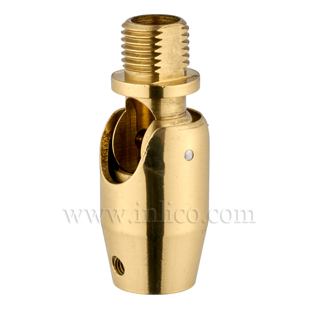 10MM M-F KNUCKLE JOINT SHORT POL/LAQ OAL 40mm (BARREL) (WITH GRUB SCREW HOLE)