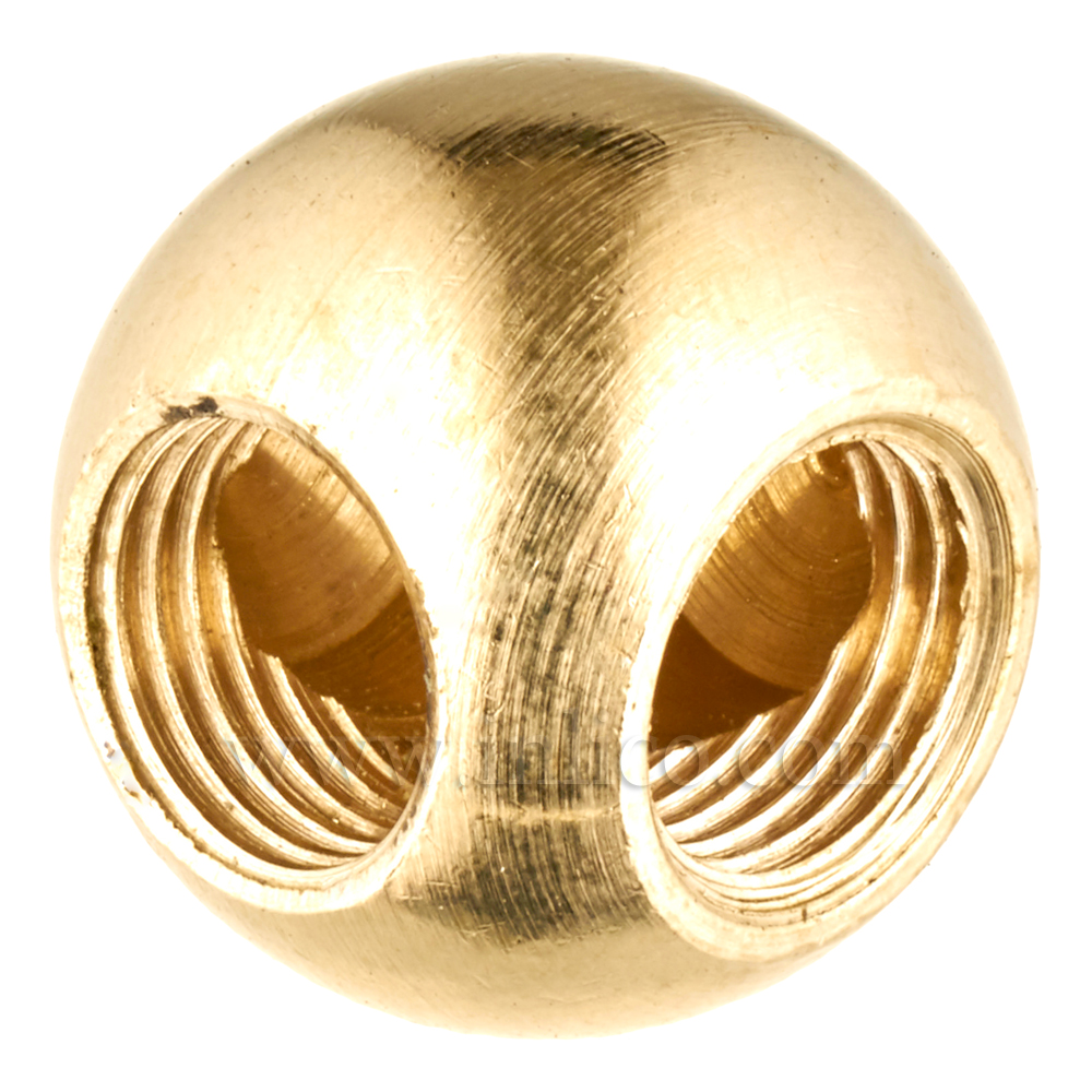 10MM BRASS BALL - 2W 20MM 90 DEG