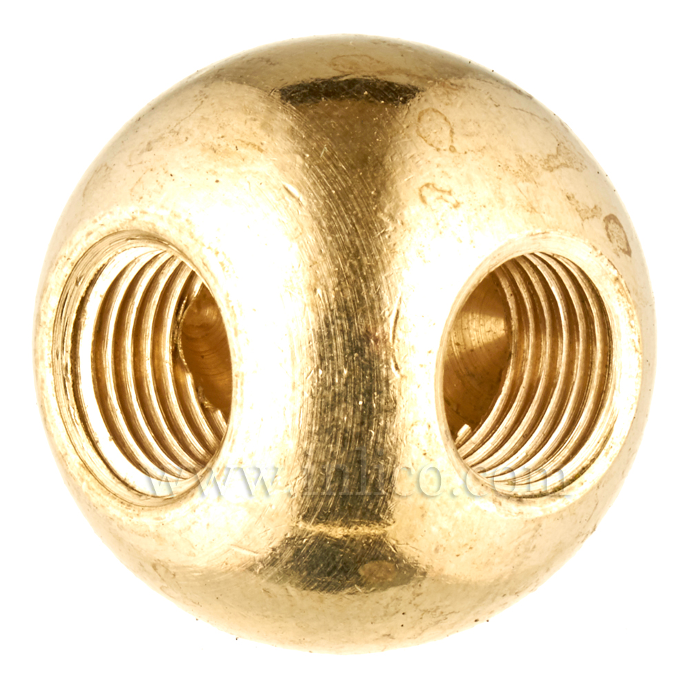 10MM BRASS BALL - 2W 25MM 90 DEG (1552)