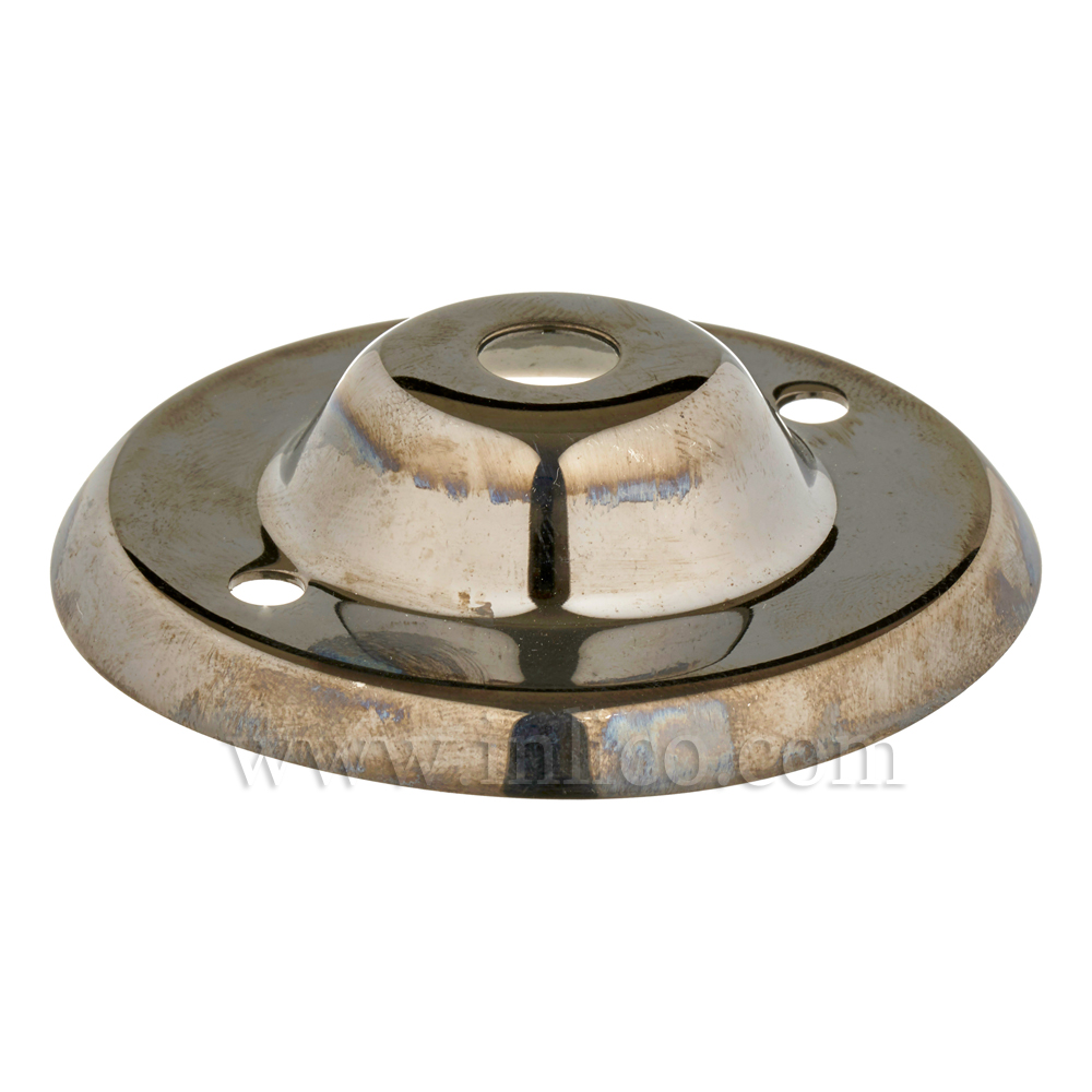 13MM CEILING PLATE BLACK NICKEL PLATED FINISH WITH 2