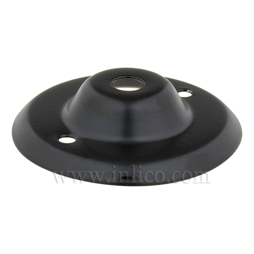 13MM BLACK POWDER COATED CEILING PLATE 2IN BESA FIXING HOLES
