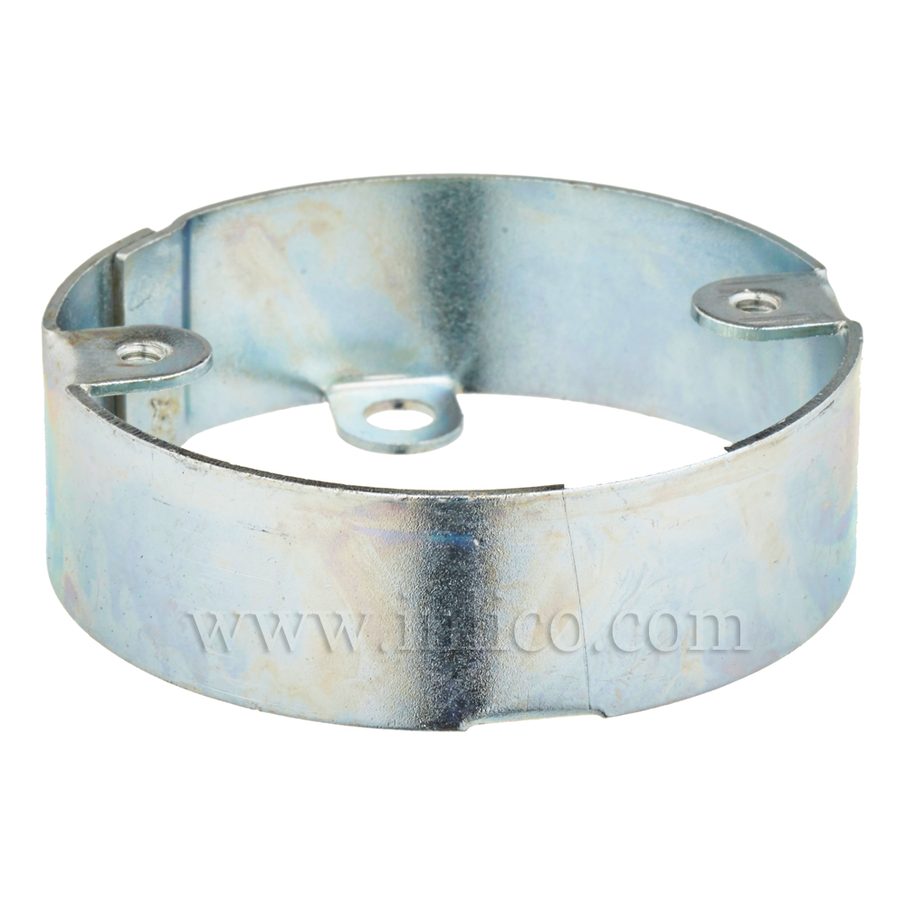 CEILING PLATE EXTENSION BRIGHT ZINC PLATED 65MM OD 55MM FIXING CENTRES