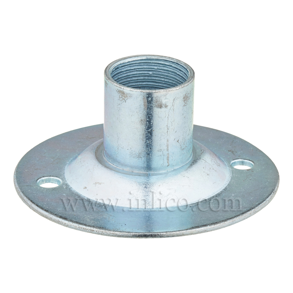 CEILING PLATE 20MM CONDUIT ENTRY BRIGHT ZINC PLATED 65MM OD 55MM FIXING CENTRES