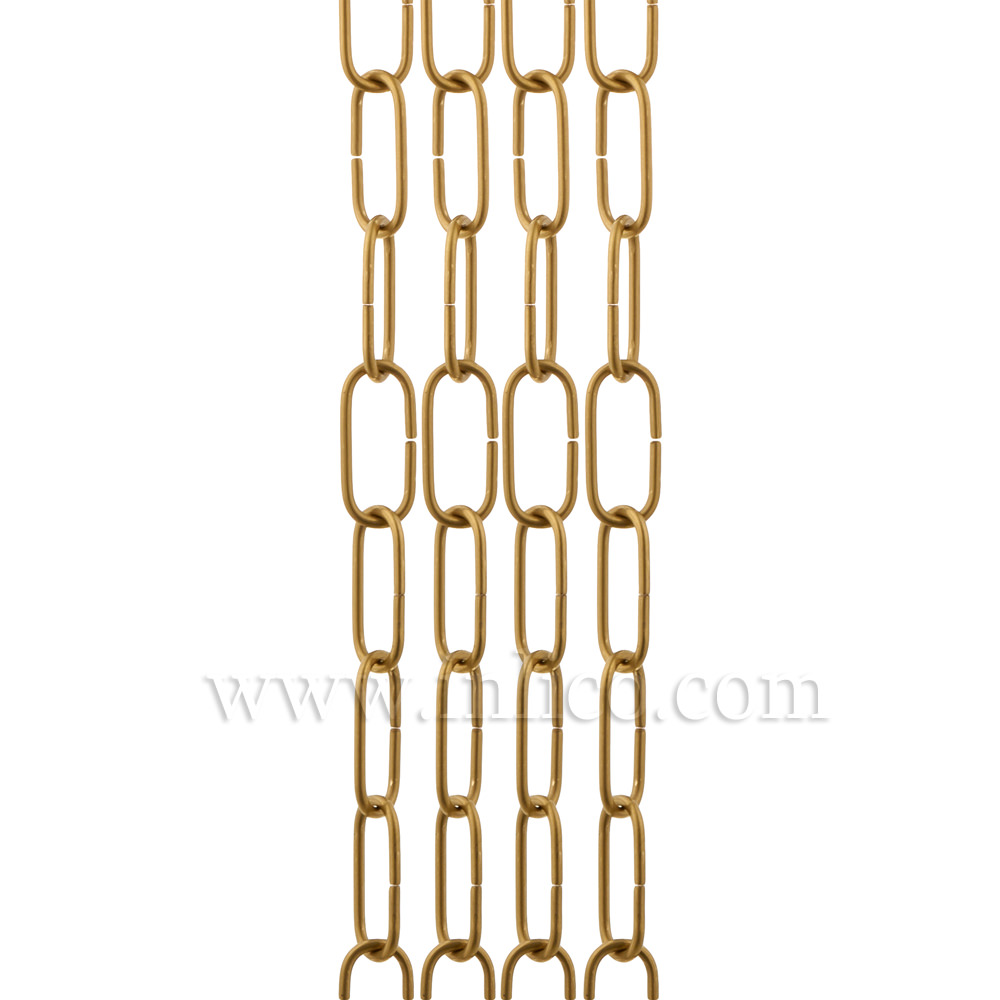 SOLID BRASS SUSPENSION CHAIN 2.9mm WIRE GAUGE 34mm x 12mm LINK (Internal)