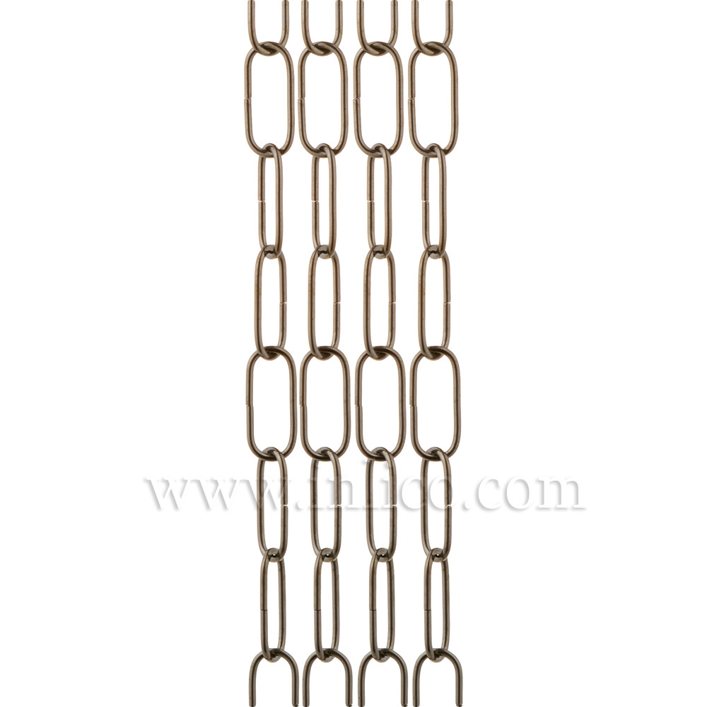 BRONZE SUSPENSION CHAIN 2.6MM WIRE GAUGE 35mm x 11mm LINK (Internal)