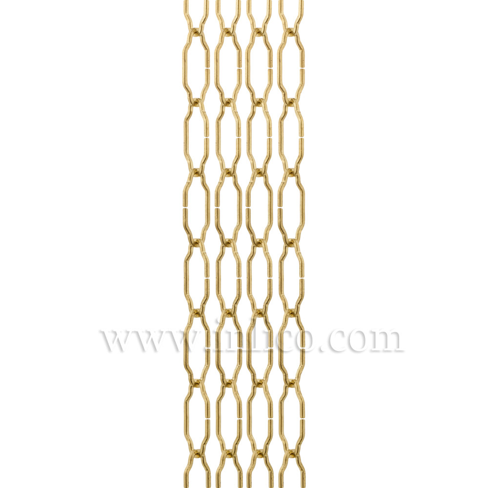 BRASS PLATED GOTHIC CHAIN - MEDIUM 2.6mm WIRE   40mm x 15mm link (internal)