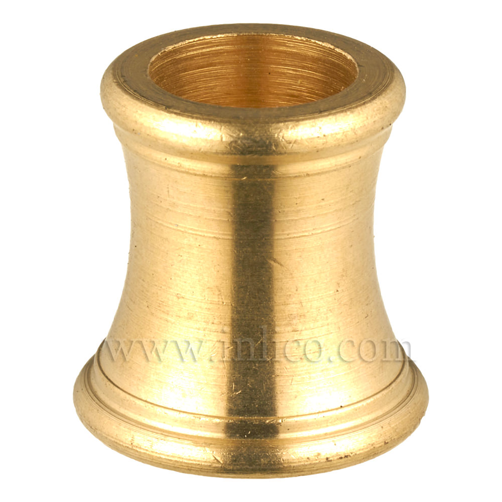 M10x1 SHAPED BRASS COUPLER 18MM OAL 18mm dia at bottom 15mm dia at top