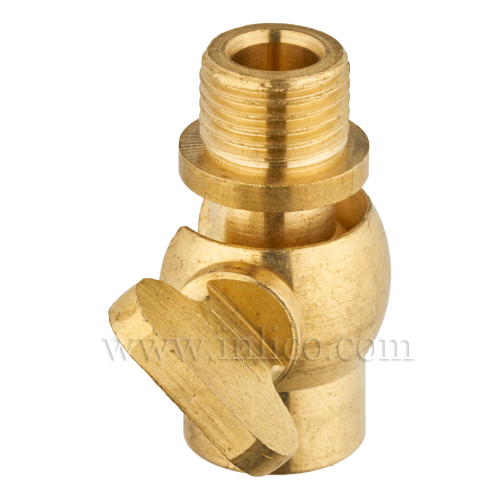 10MM M-F GAS TAP KNUCKLE 38MM X 19MM RAW BRASS FOR 3 CORE CABLE