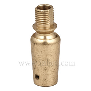 10MM MALE TO FEMALE BALL JOINT RAW BRASS 53MM X 16MM