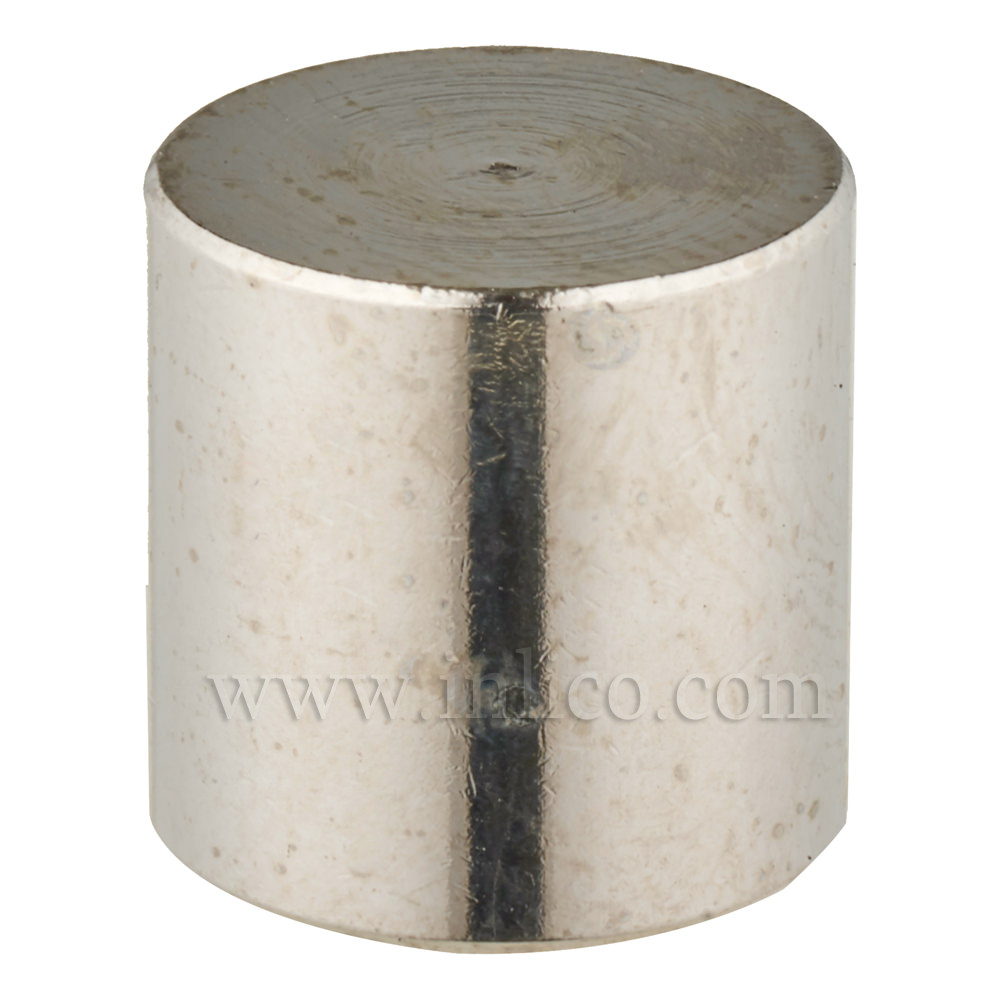 BRASS CYLINDER FINIAL NICKEL PLATED M10X1 13MM O/D x 13MM HEIGHT