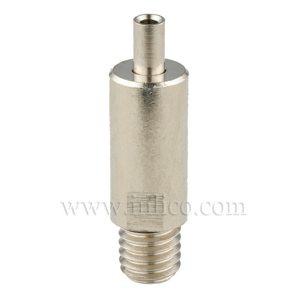 CABLE CLUTCH BRASS NICKEL PLATED 10MM DIA X 33.5MM OAL M8 THREAD