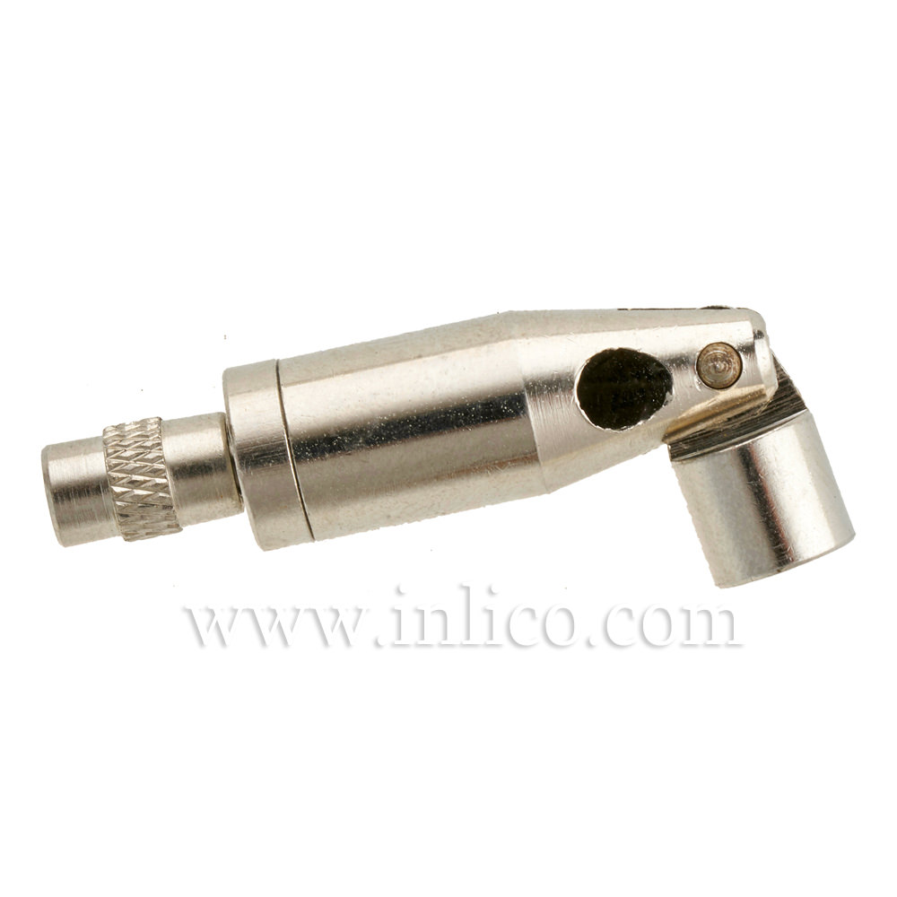 SUSPENSION CLUTCH NICKEL PLATED BRASS 10MM X 46MM WITH SAFETY CAP AND SWIVEL with M6 THREAD