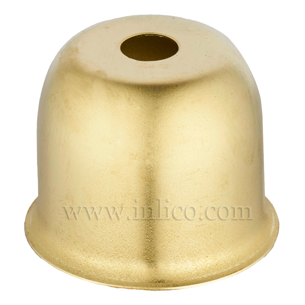 LAMP HOLDER CUP RAW BRASS 41X38MM WITH 10.5mm CENTRE HOLE (E074/A) HALF LAMPHOLDER COVER FOR E27/ES LAMPHOLDERS