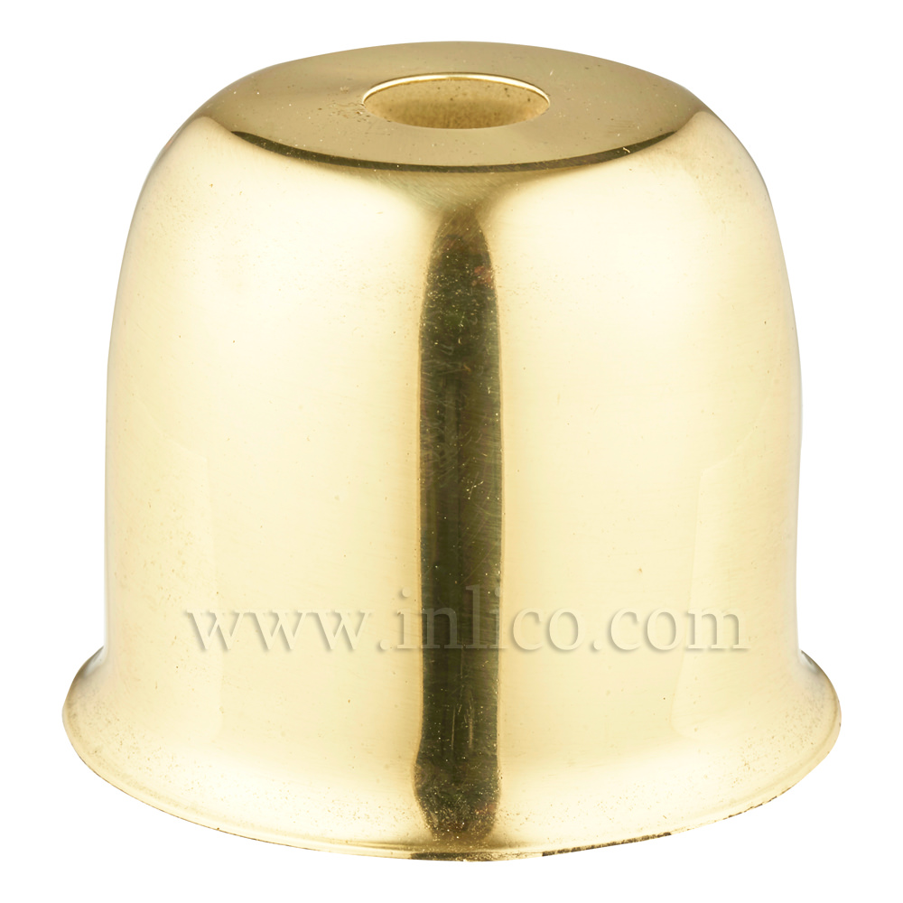 LAMP HOLDER CUP SOLID BRASS POLISHED & LAQUERED 41X38MM WITH 10.5mm CENTRE HOLE (E074/A) HALF LAMPHOLDER COVER FOR E27/ES LAMPHOLDERS