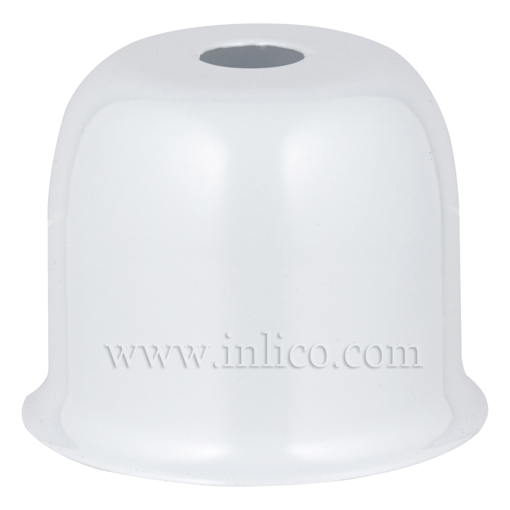LAMPHOLDER CUP WHITE POWDER COATED STEEL CUP 41X38MM WITH 10.5MM CENTRE HOLE HALF LAMPHOLDER COVER FOR E27 ES LAMPHOLDER