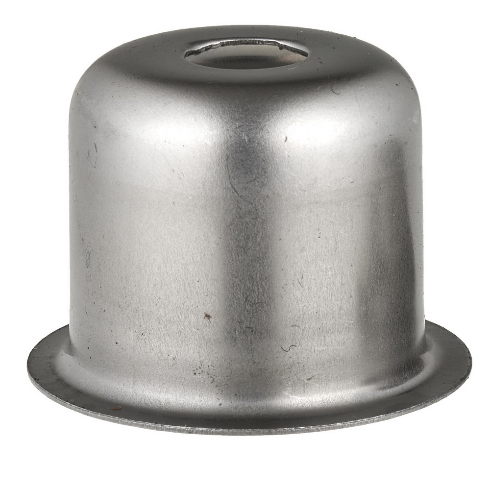 LAMP HOLDER CUP RAW STEEL 28.5X27MM WITH 10.5mm CENTRE HOLE FOR GU/GZ10 AND G9 LAMPHOLDERS AND AS AN E14 SHORT CUP