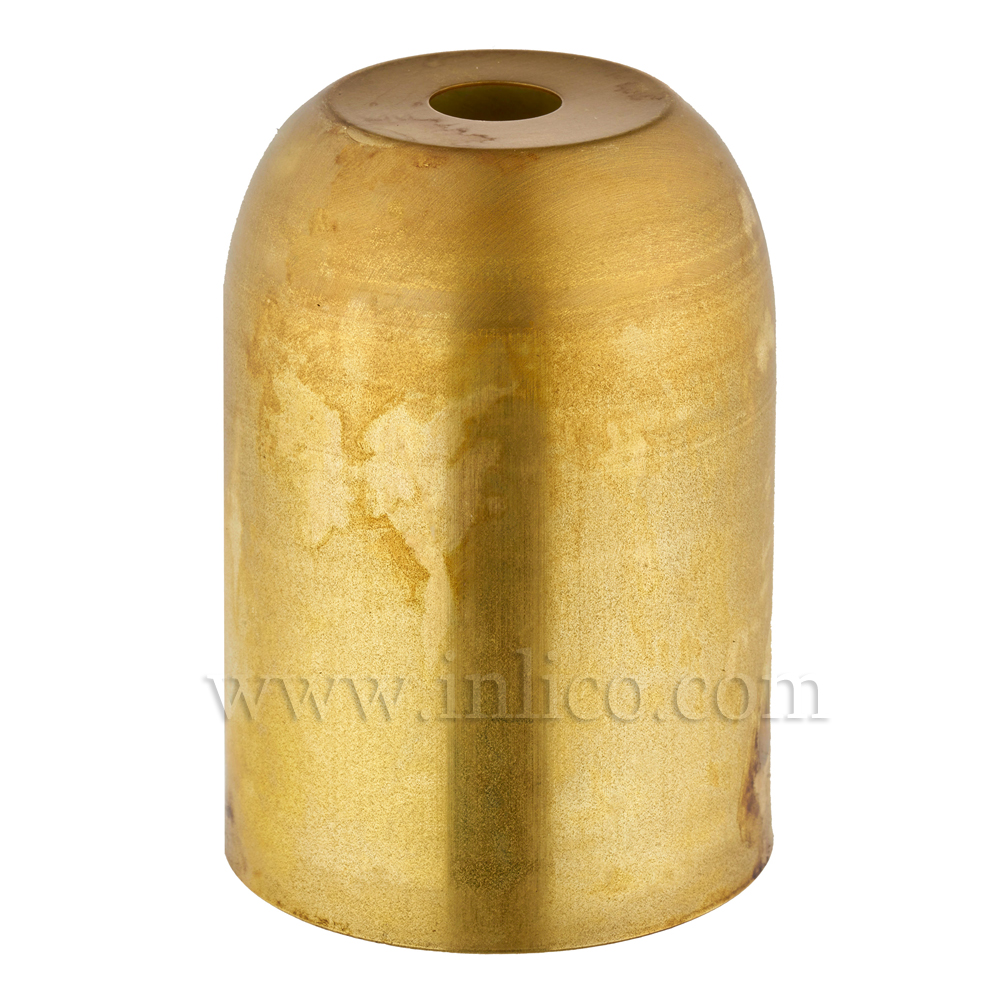 LH COVER RAW BRASS  D41XH60MM 10.5mm CENTRE HOLE FOR E27/ES LAMPHOLDER