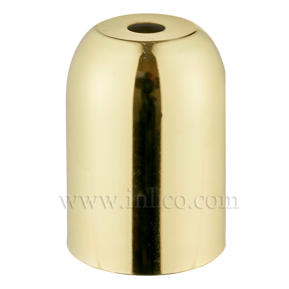 LH COVERS BRASS PLATED & LAQ  RAW STEEL D41XH60MM 10.5MM CENTRE HOLE LAMPHOLDER COVER FOR E27/ES LAMPHOLDER