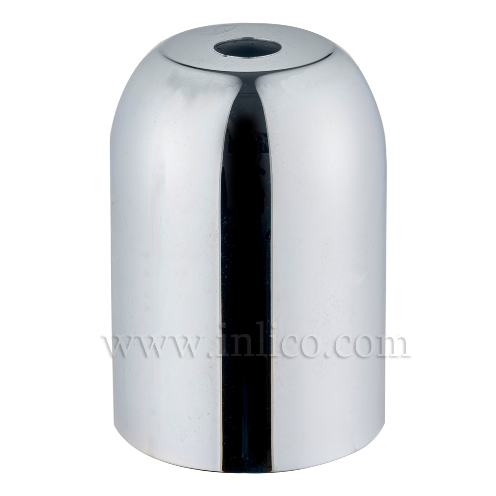 LH COVERS CHROME PLATED  RAW STEEL  D41XH60MM LAMPHOLDER  41X60MM WITH 10.5MM HOLE CHROME  LAMPHOLDER COVER FOR E27/ES LAMPHOLDER