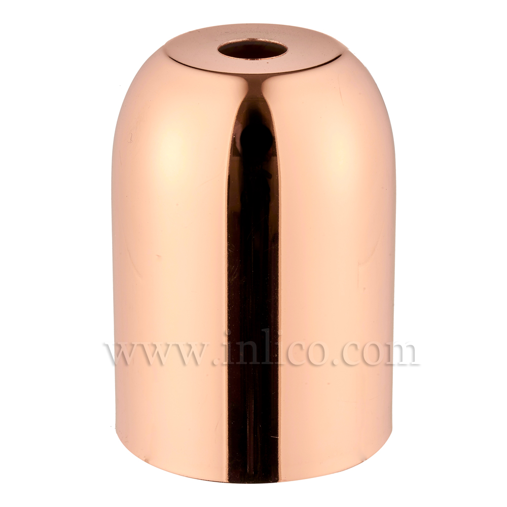 LH COVERS COPPER PLATED RAW STEEL LAMPHOLDER CUP 41X60MM WITH 10.5MM HOLE COPPER   LAMPHOLDER COVER FOR E27/ES LAMPHOLDER