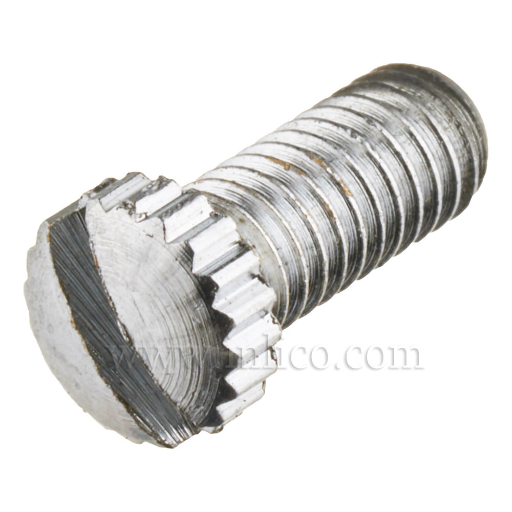 BRASS SCREW CHROME FINISH KNURLED HEAD M4 X 10mm FOR 6.1008 CEILING CUPS