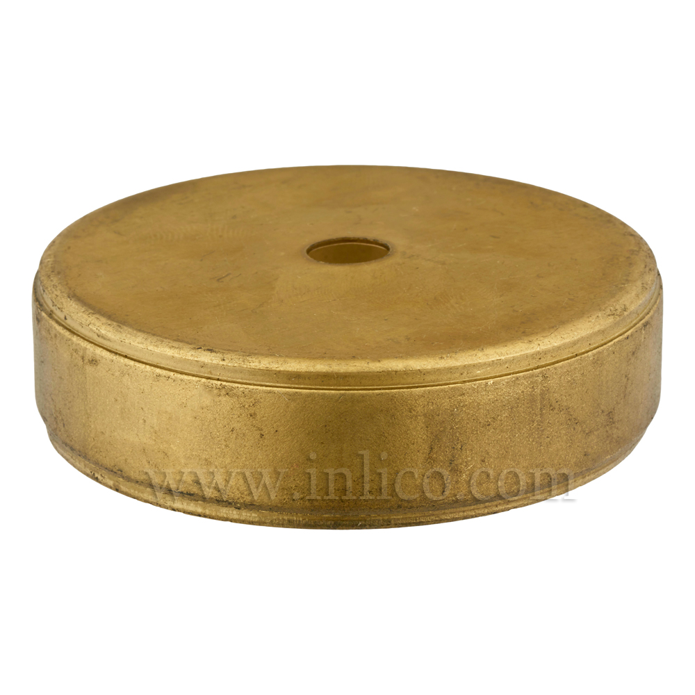 80MM RAW BRASS CENTREBODY - 0 SIDE HOLES 10.5MM CENTRE HOLE