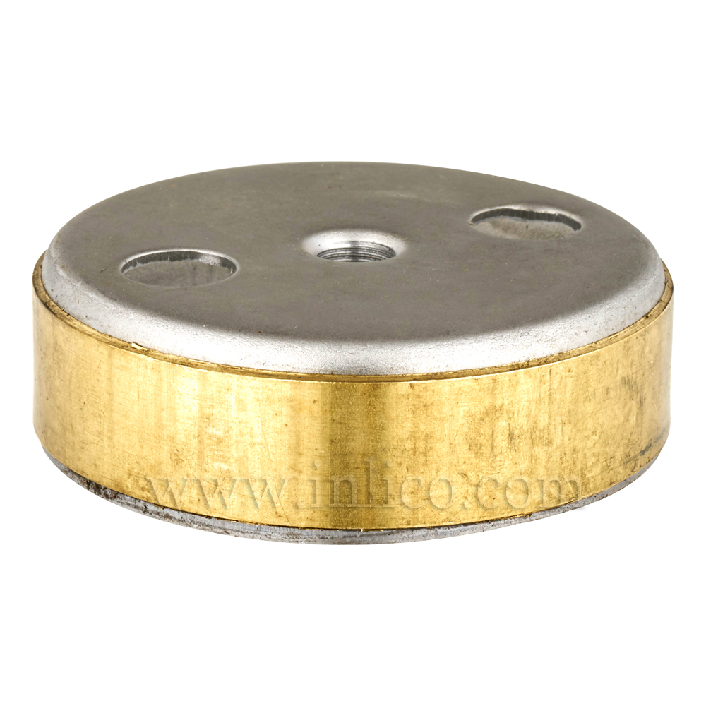 80MM RAW STEEL/BRASS RING C/BODY NO SIDE HOLES. 10.5MM CENTRE HOLE