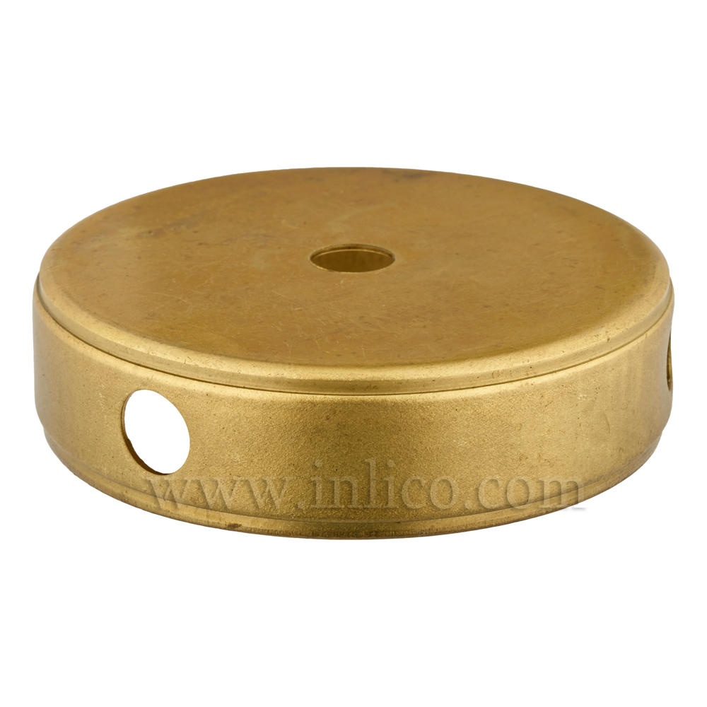 80MM RAW BRASS CENTREBODY - 3 SIDE HOLES 10.5MM CENTRE HOLE