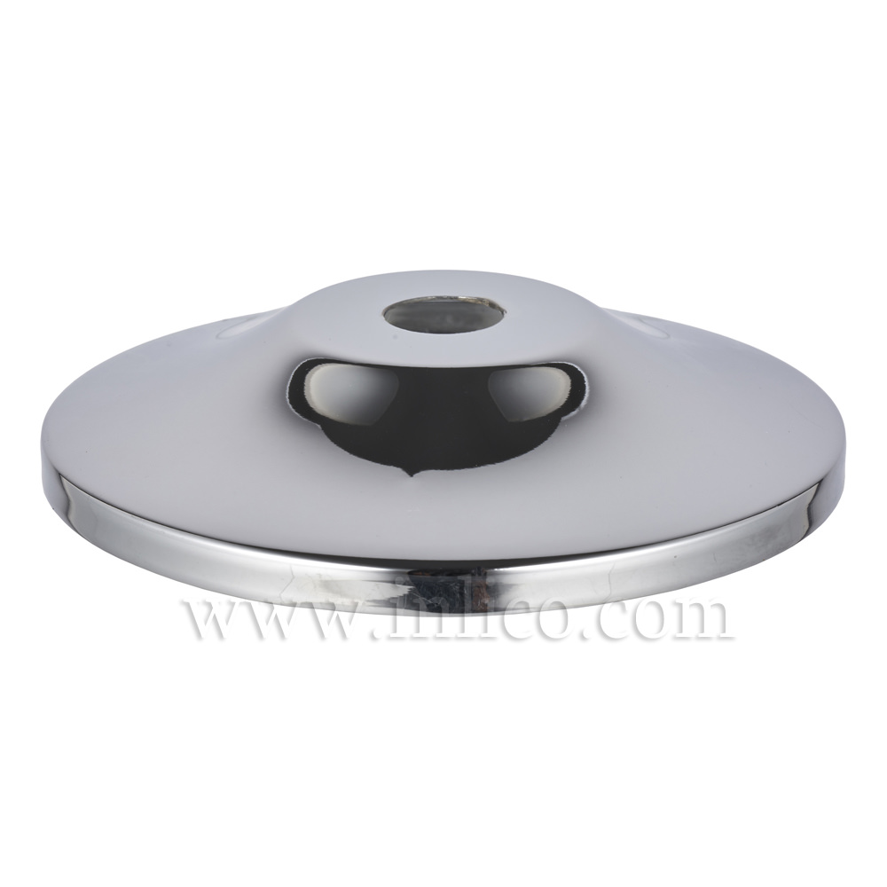 80MM CHROME PLATED RAW STEEL PAGODA CAP 10.5MM CENTRE HOLE