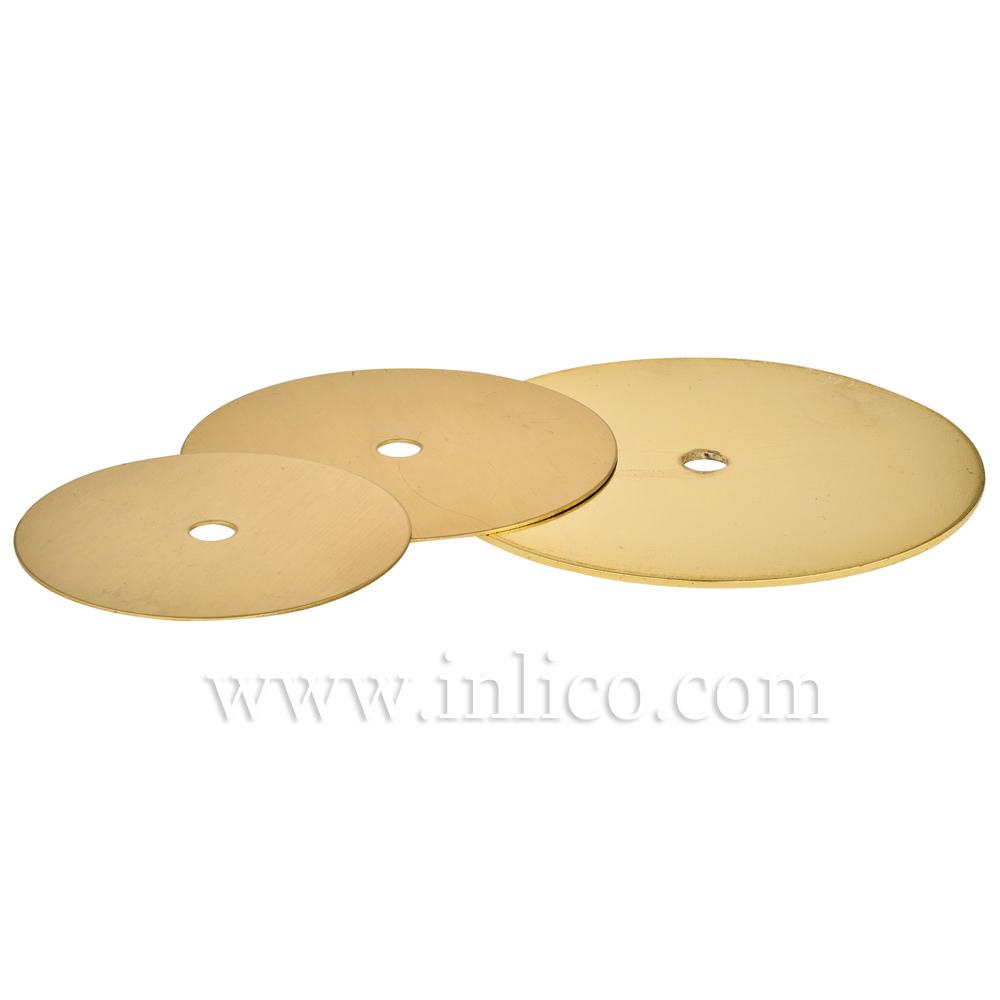60 x 0.9mm Chrome Plated Brass Disc with 10.5mm Centre Hole