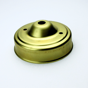 CEILING CUP RAW BRASS DIA 83MM x HT 35MM CENTRE HOLE 10MM