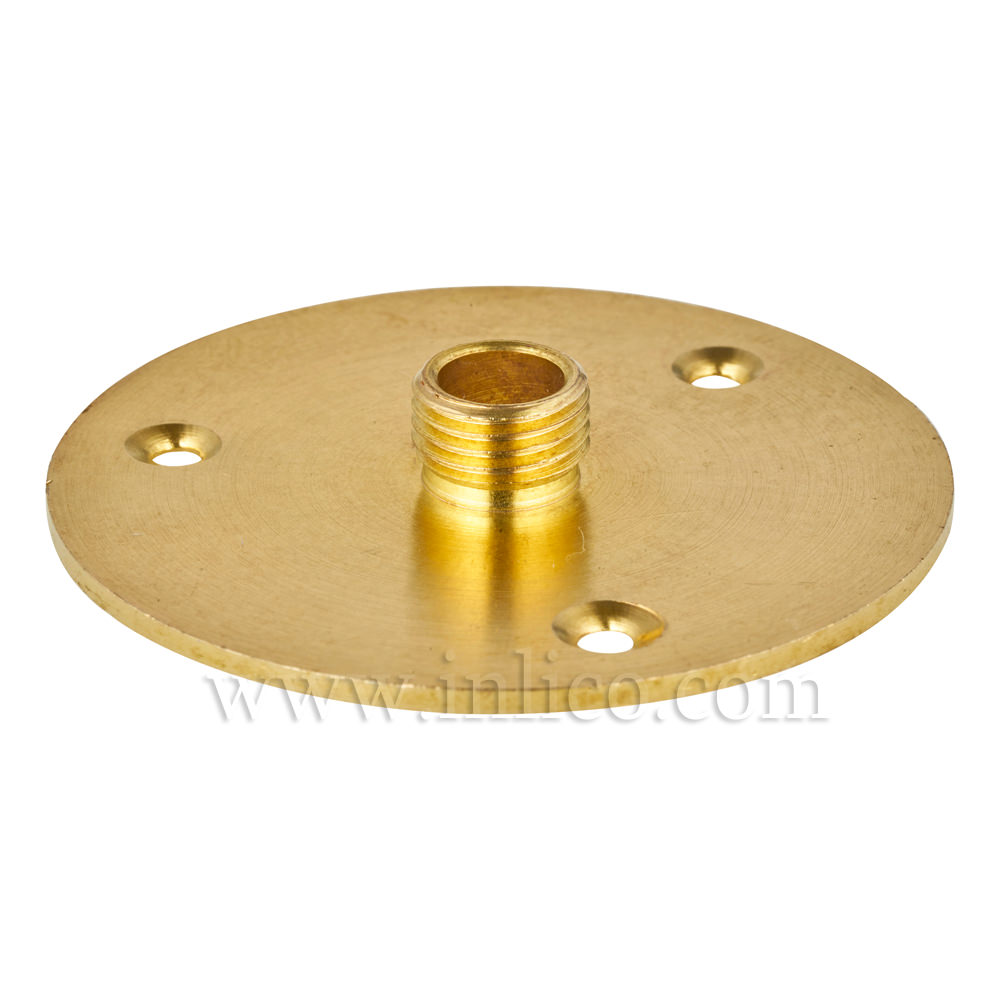 10MM BRASS NIPPLE PLATE 50MM DIAMETER