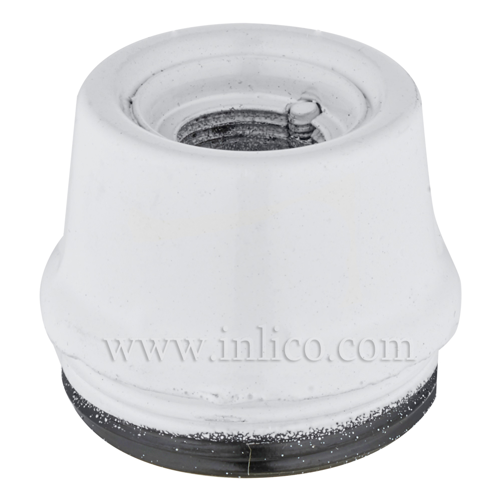 E14 10MM METAL ENTRY DOME WHITE BAKELITE/THERMOSETTING PHENOLIC RESIN  APPROVAL ENEC05 TO EN60238:2004