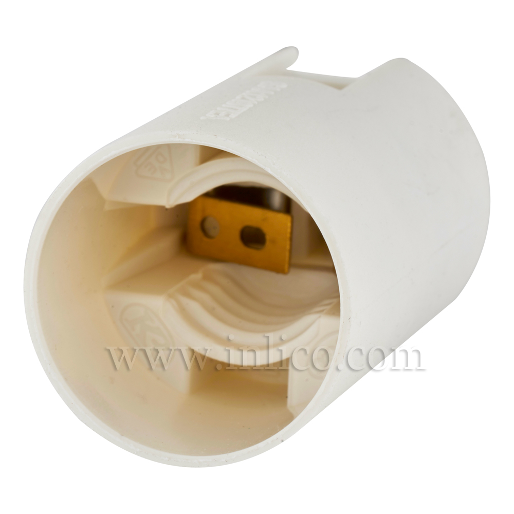 E12 PLAIN SKT THERMOPLASTIC LAMPHOLDER PLAIN SKIRT T210 RATED