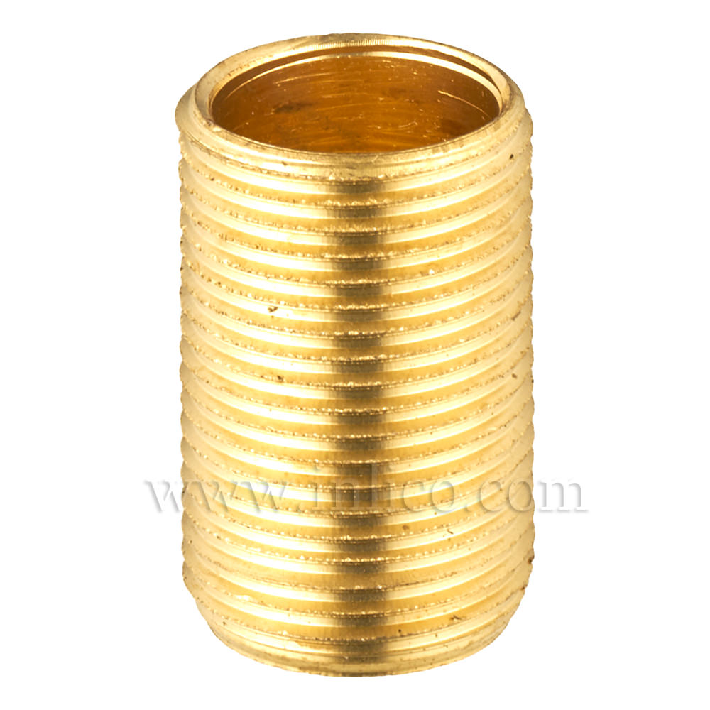 "BRASS ALLTHREAD 1/2"" 26tpi X 20MM. LONG"
