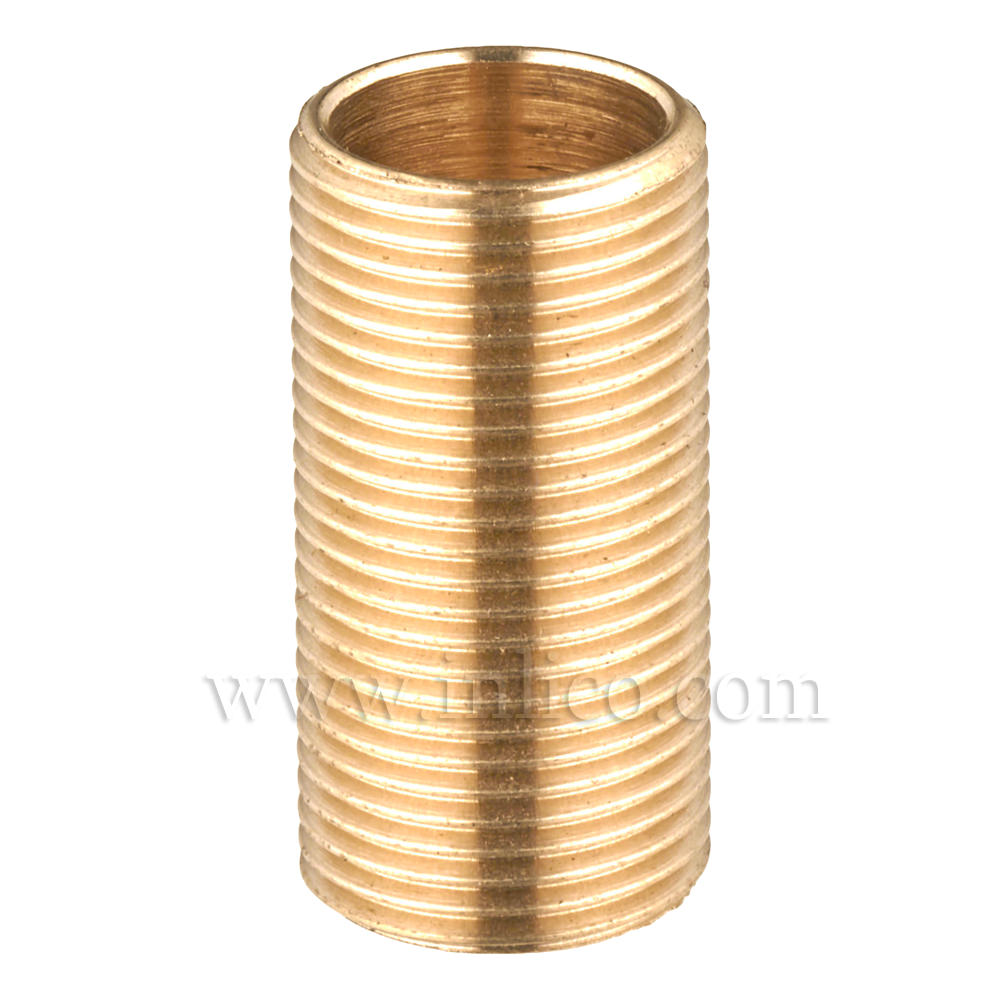 "BRASS ALLTHREAD 1/2"" 26tpi X 25MM. LONG"
