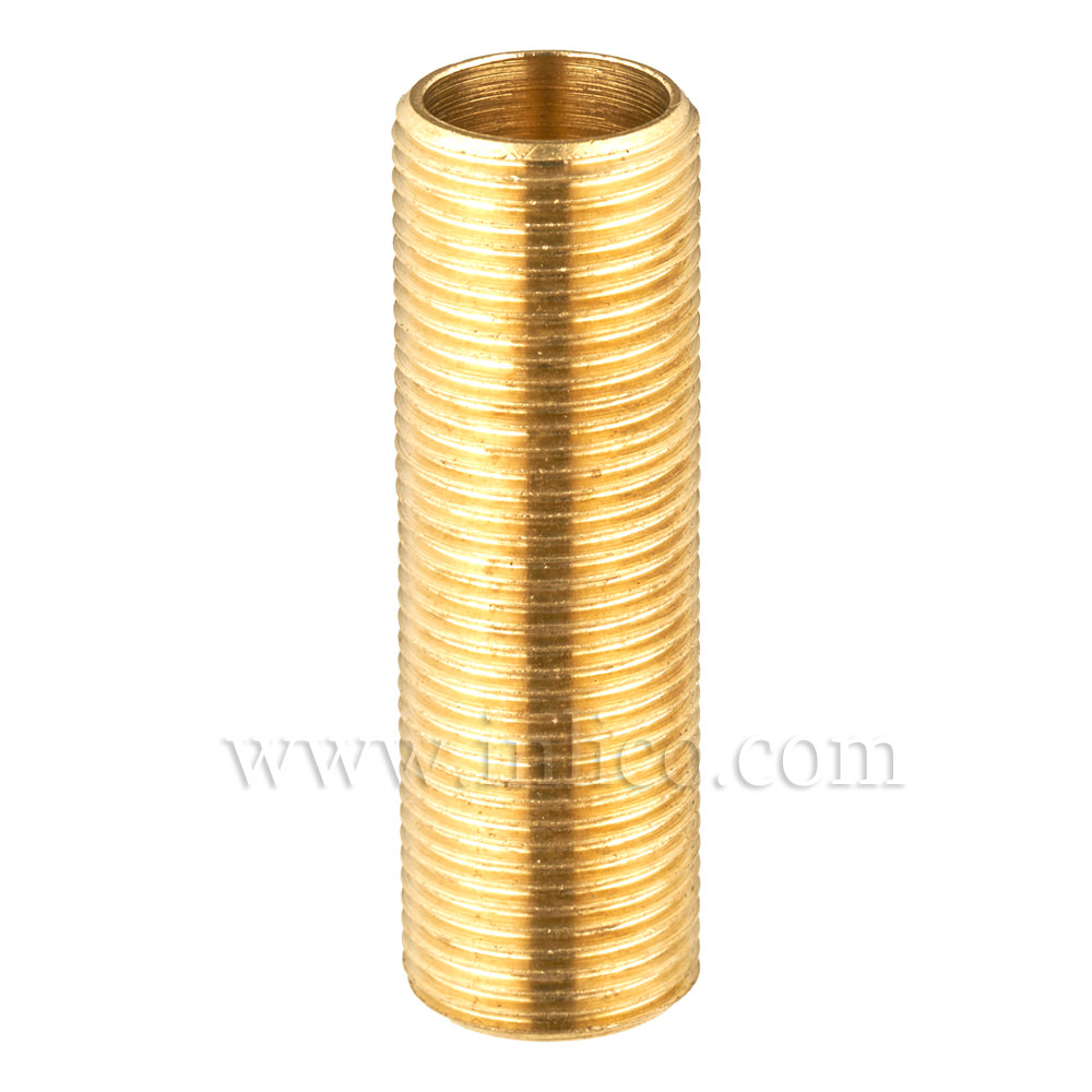 "BRASS ALLTHREAD 1/2"" 26tpi X 40MM. LONG"