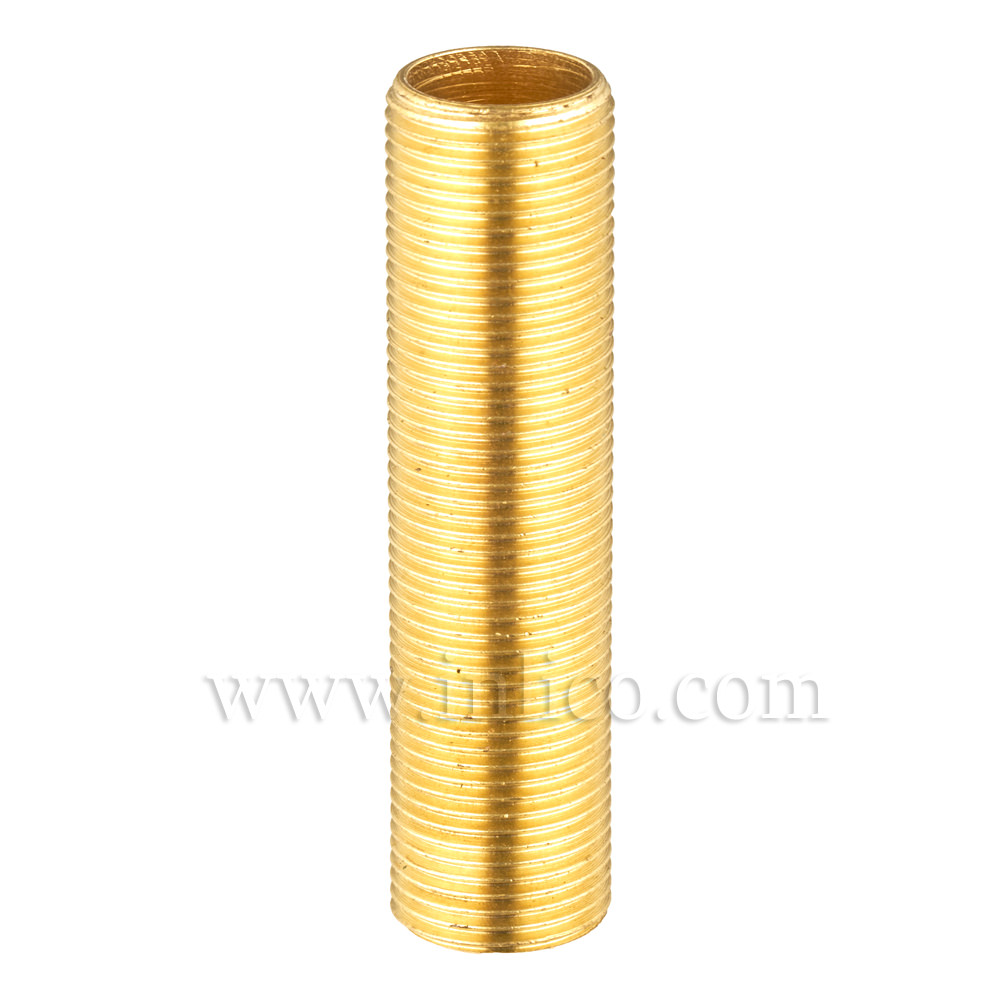 "BRASS ALLTHREAD 1/2"" 26tpi X 50MM. LONG"