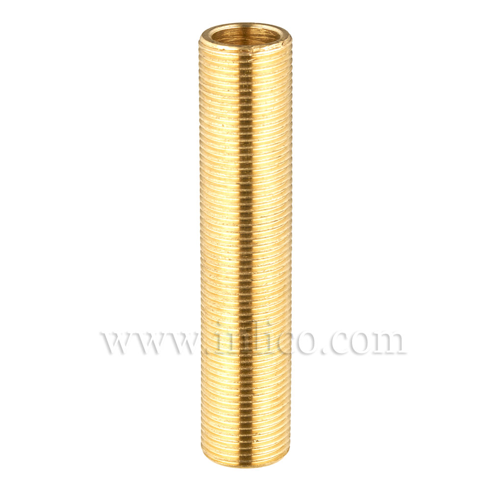 "BRASS ALLTHREAD 1/2"" 26tpi X 60MM. LONG"