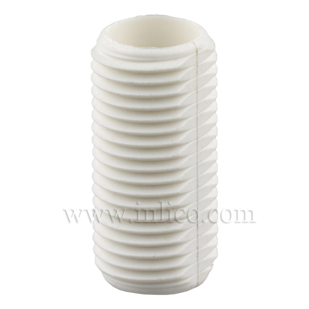 WHITE PLASTIC PROFILED A/THREAD M10 X 20MM