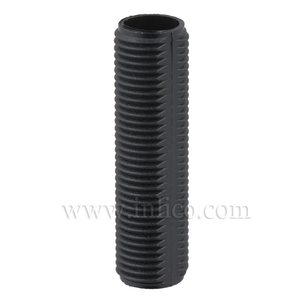BLACK PLASTIC PROFILED ALLTHREAD M10x35MM