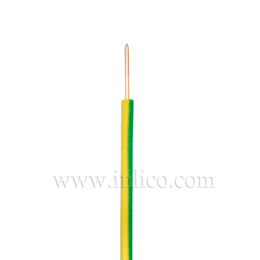 SINGLE CORE 0.75MM SILICON  SOLID GREEN/YELLOW -40 DEG TO 180 DEG C SILICON INSULATED  MANUFACTURED TO SIA STANDARD BS EN 60228:2005