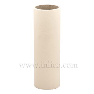 CANDLE TUBE 24ID X 100MM IVORY CARD PLAIN CANDLE TUBE